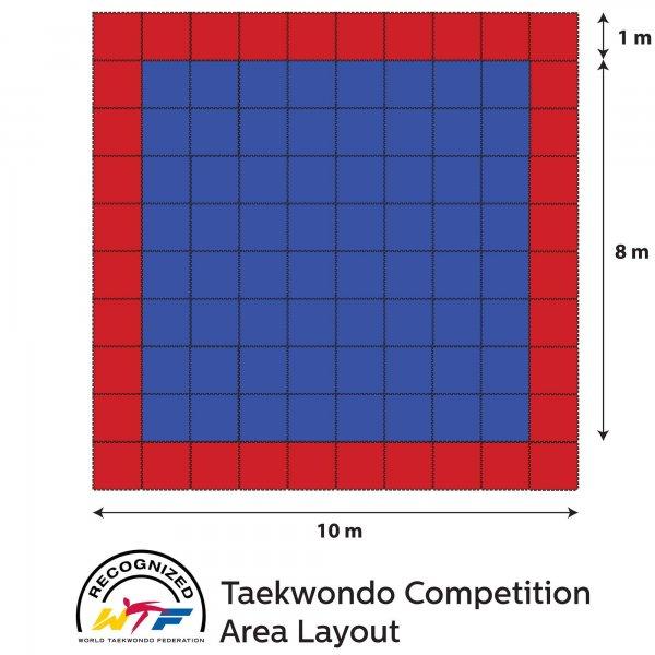 Tatami homologado para competición de taekwondo y karate
