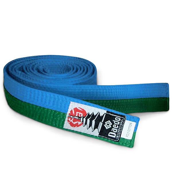 cinturón verde-azul
